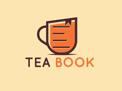 Tea Book logo creative