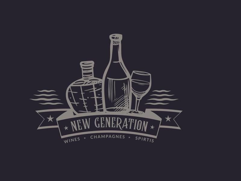 New Generation Wines art logo creative