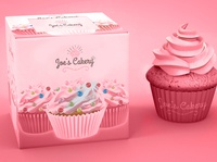Joe's Cakery identity branding logo branding packaging cupcakes bakery
