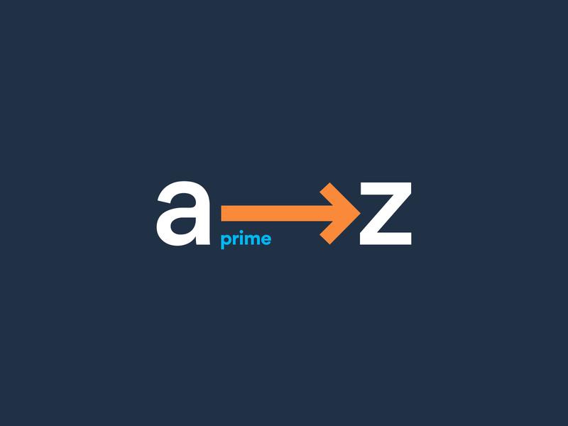 A 2 Z icon amazon identity typography branding vector logo design illustration