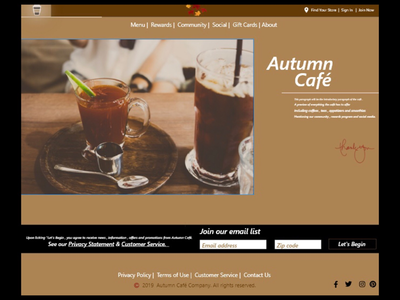 Autumn Cafe Home Page .