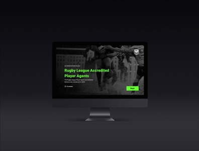 NRL interface design user interface design branding splashscreen typography application ui
