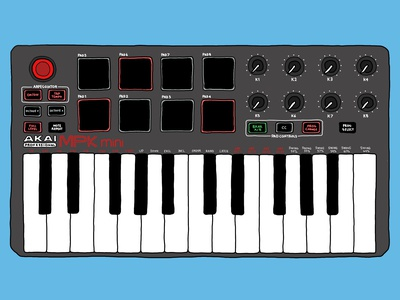 Digital Illustration - Akai MPK