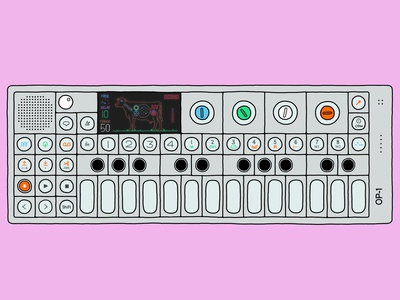 Digital Illustration - Teenage Engineering OP-1