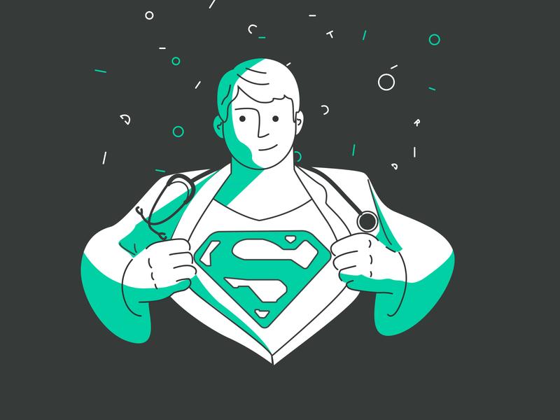 super doctor ai illustrations digital illustration coronavirus