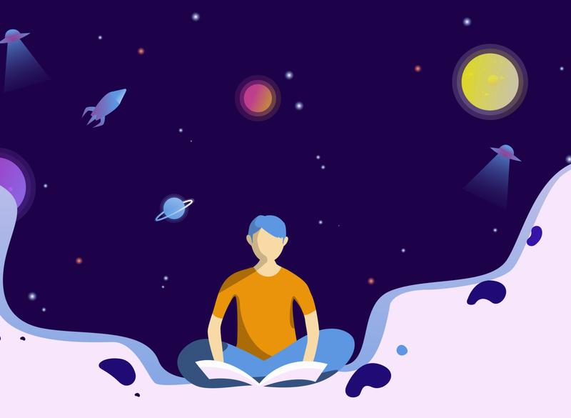 SPACE bangladesh ai illustrations illustration web flat illustrator vector design easy ilustrations digital illustration