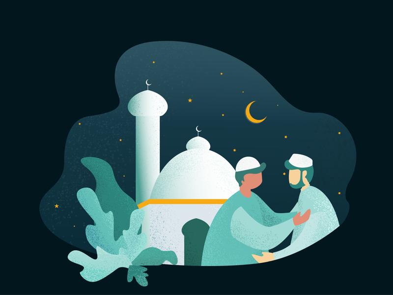 RAMADAN mosque grains ai illustrations illustrator illustration web easy ilustrations vector digital illustration