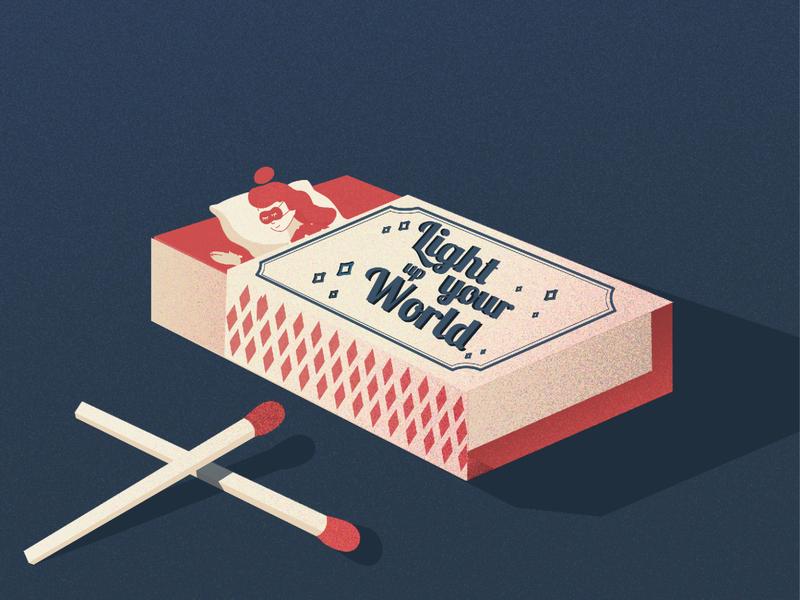 thumbelina in matchbox quarantine days matchbox thumbelina ai illustrations minimal illustrator flat design web illustration easy ilustrations vector digital illustration