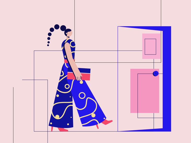 FASHION minimal easy ilustrations digital illustration