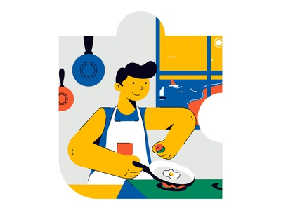 life in puzzle quarantine days minimal flat design illustrator web illustration easy ilustrations vector digital illustration