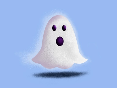 Boo! web illustrator digital illustration life weekend exhausted blanket texturusillustration design illustrations freaky ghost halloweencostume spooky halloween dribbble dribbbleweeklywarmup