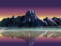 Mountains At The Lake