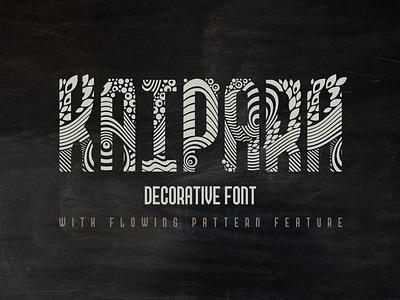 Kaipara Font type typeface vintage style decorative creative typography design lettering alphabet font