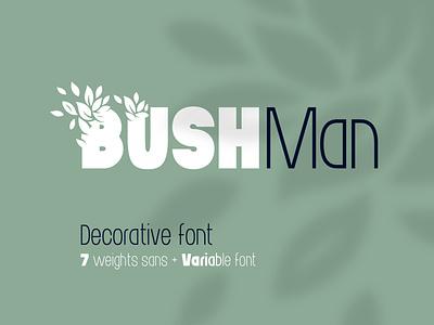 Bushman font set style modern type logo decorative variable typography typeface lettering alphabet font