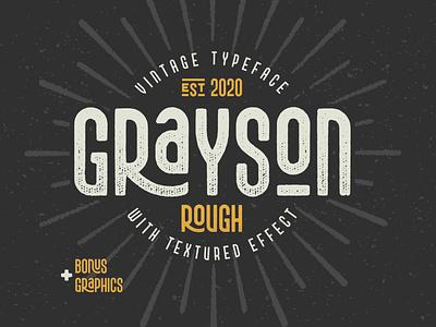 Grayson Rough font and graphics vintage design branding type typeface typography lettering illustration alphabet font