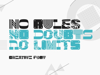 No Rules font type design style modern decorative typography typeface lettering alphabet font