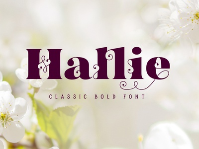 Hallie - Bold Classic Font vector vintage decorative style typography type typeface lettering design font