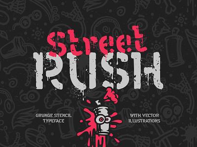 Street Rush font & graphics art street grunge urban graffiti illustration vector typography typeface type lettering design alphabet font