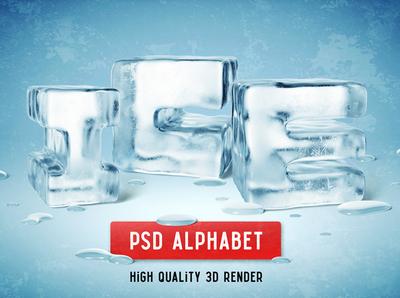 Ice PSD Alphabet