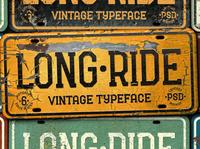 Long Ride. Font & Mockup