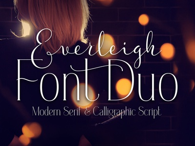 Everleigh Font Duo decorative abc text typography typeface type lettering design alphabet font