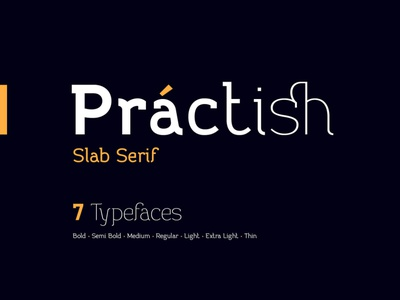 Practish font family logo grotesque modern serif slab text typography typeface type design alphabet font