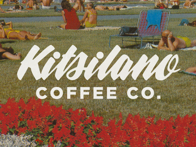 Kitsilano Coffee Co. typography badgedesign branding type design logotype lettering logo
