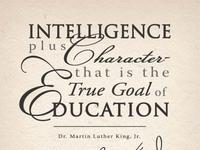 Martin Luther King Jr. Poster - USC Aiken event typogaphy poster
