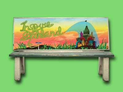 Inspire Oakland! Bench