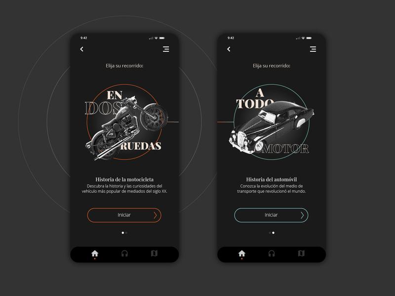 Museum audio guide app