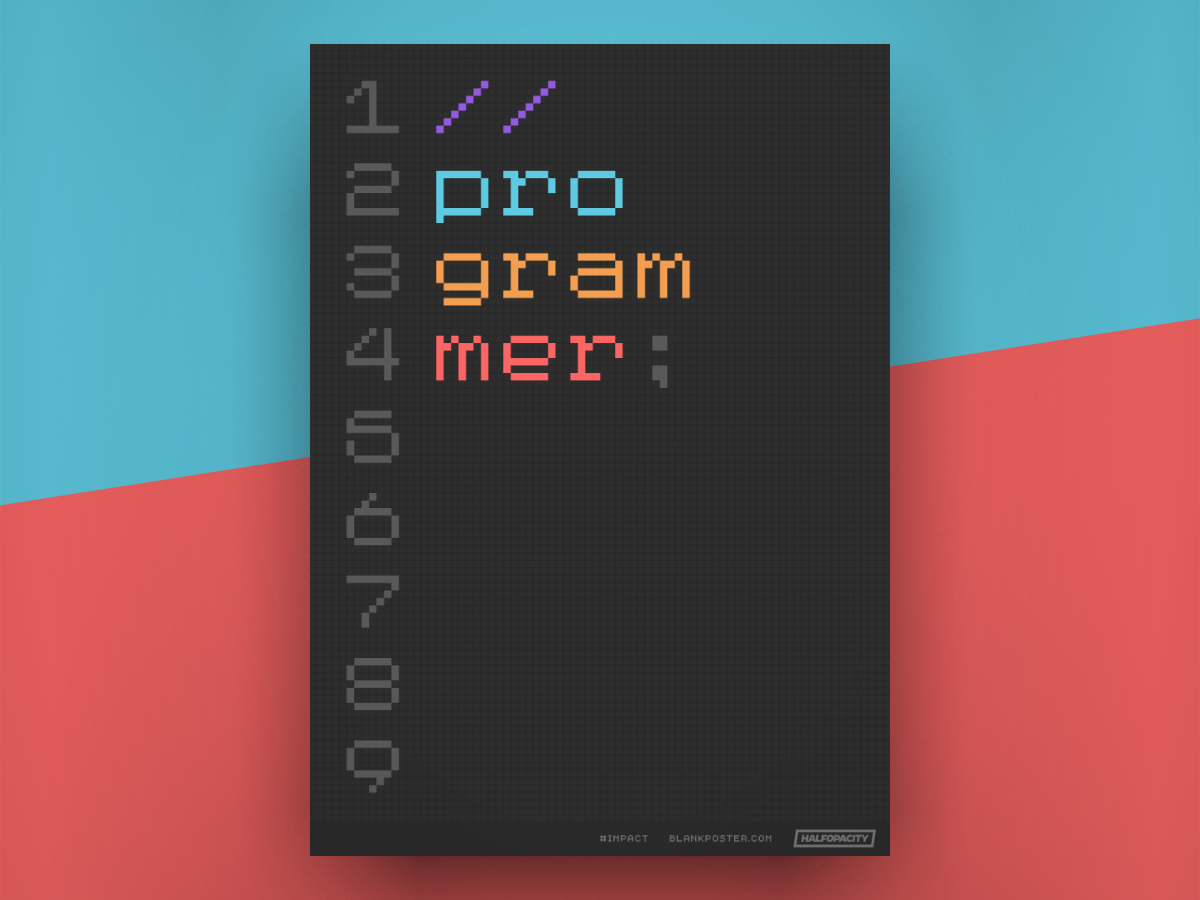 Poster - Programmer type poster blankposter blankposter.com