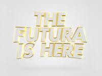 Futura 3D type