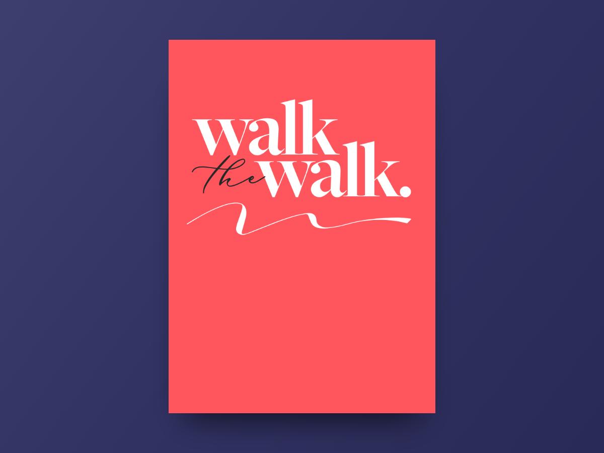 Poster - Walk type design poster blankposter.com