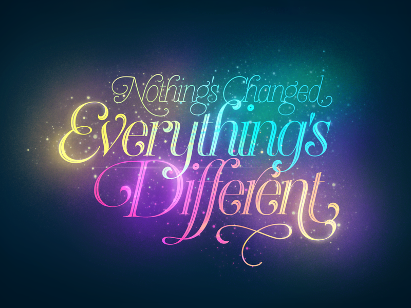 Lettering - Everything s Different