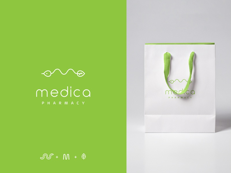 Medica Logo pharmacy vector illustration vector brand branding design minimalistic branding creative logotype logo mark medicine medical