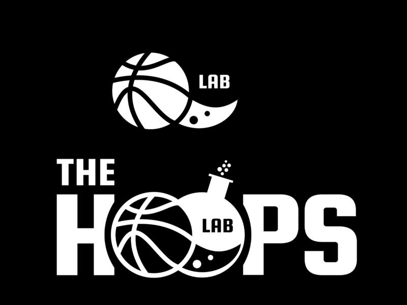 The Hoops Lab Concept Logo branding design blackandwhite logo branding hoops beaker lab basketball logo adobe illustrator