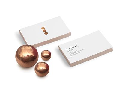 Business Card business card minimal creativity three dots personal branding
