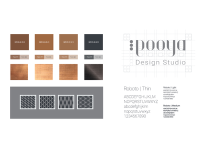 Pooya branding colour and texture texture copper concept colour personal branding logo pooya