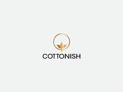 Cottonish logo creativity branding minimal logo design cottonish