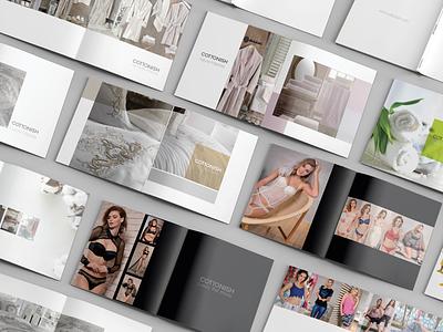 Cottonish products catalog layout design product catalog cotton