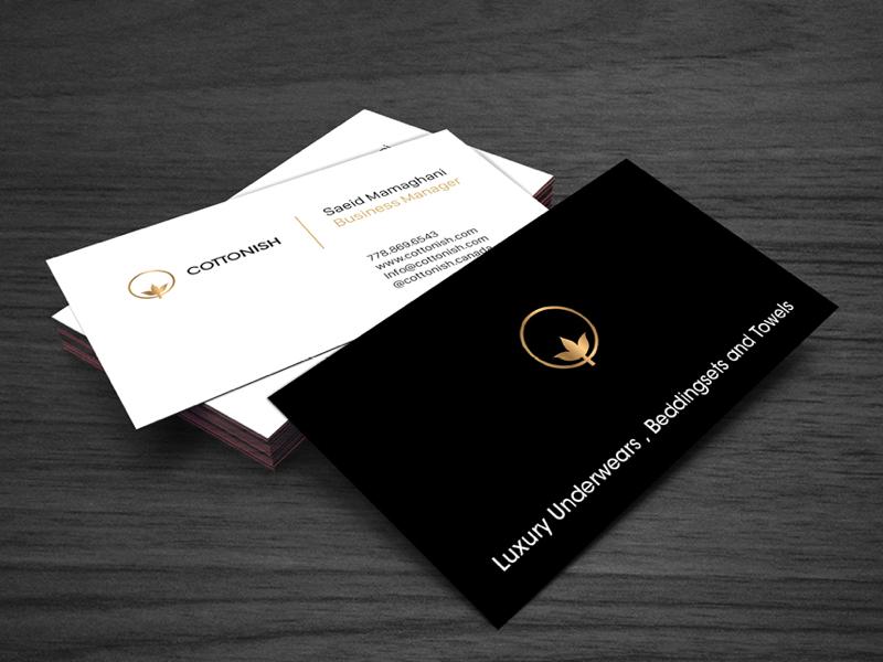 Cottonish Business card stationery cottonish business card branding minimal