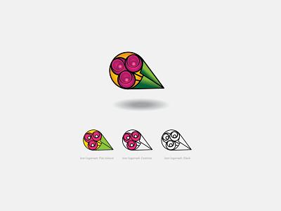 AMERTA logo (3-versions) colour concept flower logo design logo pooya minimal creativity