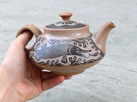 Teapot with pike