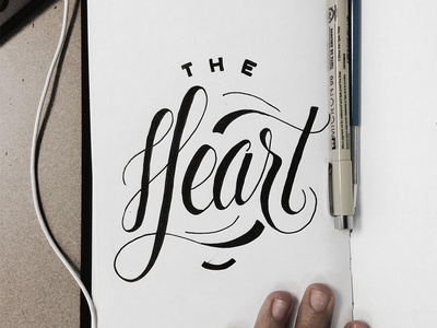 The Heart lettering