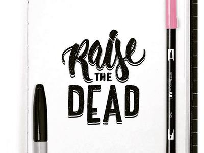 Raise the Dead lettering