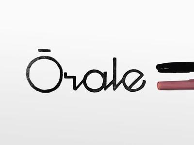 Orale lettering