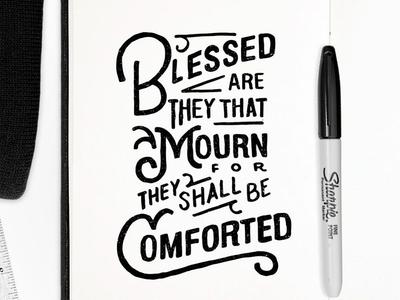 Blessed 30daysofbiblelettering sharpie lettering