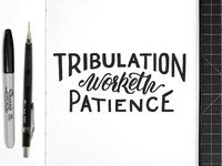 Tribulation Worketh Patience