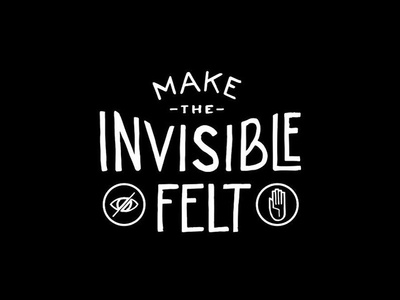 Make the Invisible Felt takeaways. lettering creative mornings