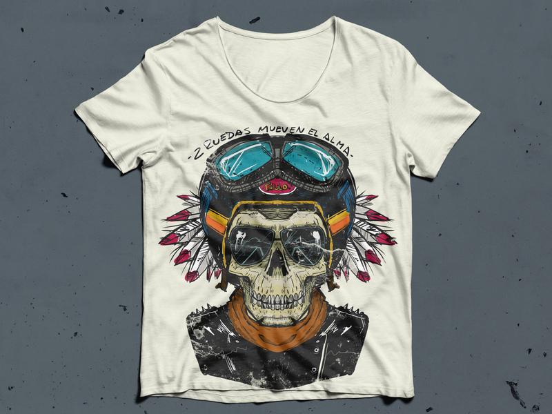 remera skull